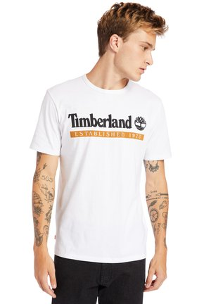 T-shirt print - wheat boot-white