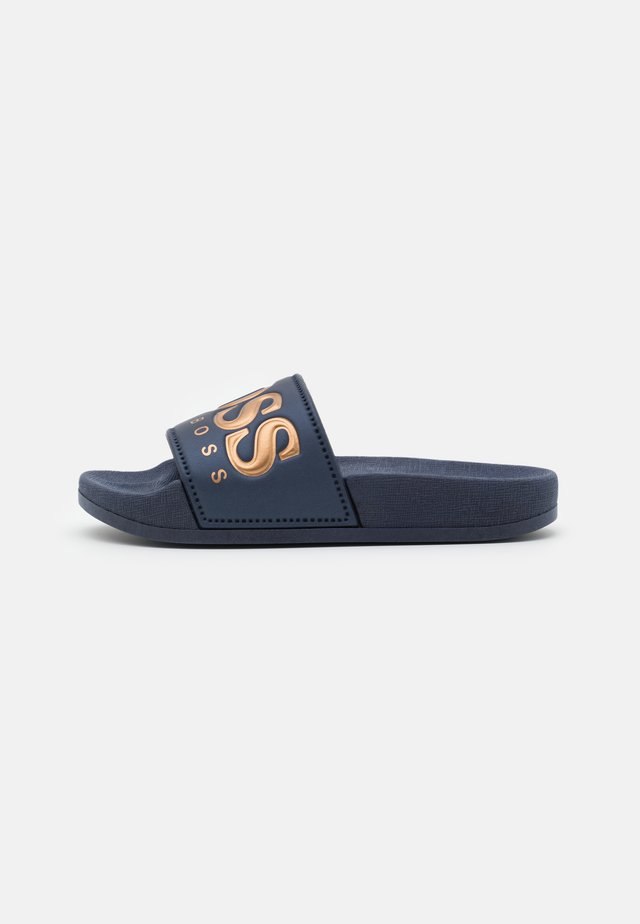 Pool slides - navy