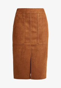 Dorothy Perkins - POCKET MIDI SKIRT - Pencil skirt - tan - 3