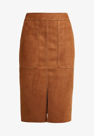 POCKET MIDI SKIRT - Pencil skirt - tan