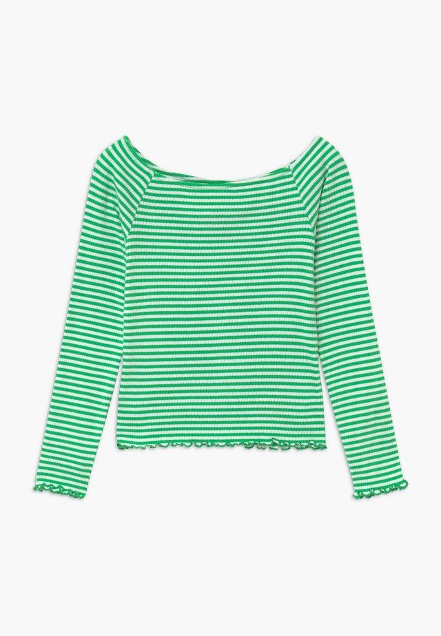 NLFDALLAS LS OFF SHOULDER - Top sdlouhým rukávem - island green