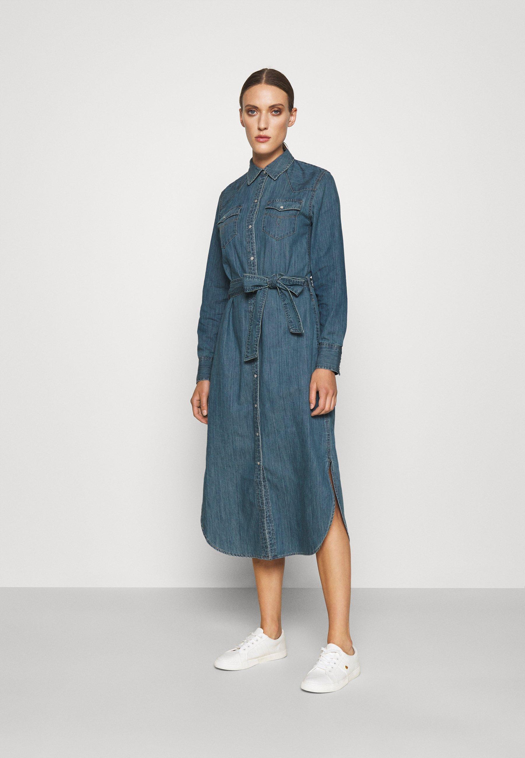 Damen DERREK LONG SLEEVE CASUAL DRESS - Jeanskleid