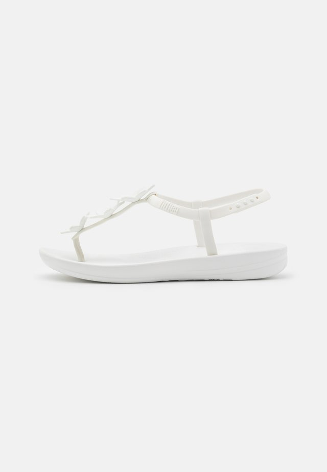 BELLA IQUSHION FLOWER - Sandaler m/ tåsplit - white