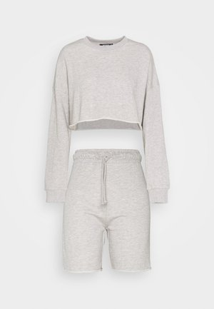 CROP CYCLING SHORT SET - Sweater - grey marl
