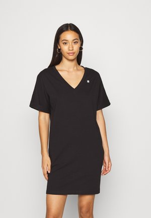 LOOSE DRESS V WMN S\S - Jersey dress - black