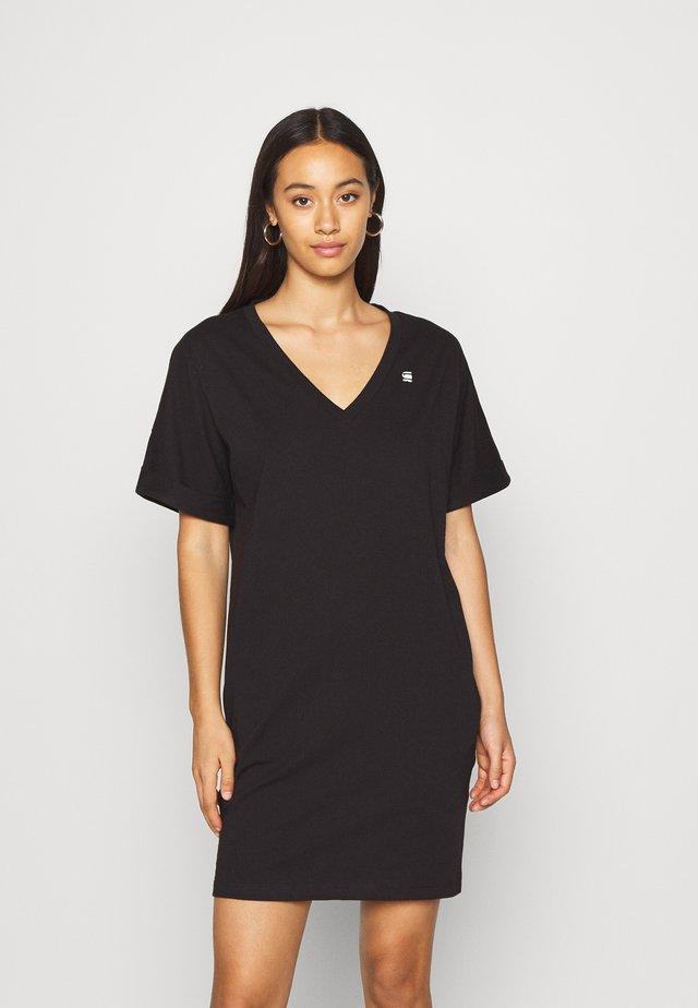 LOOSE DRESS V WMN S\S - Jersey dress - black