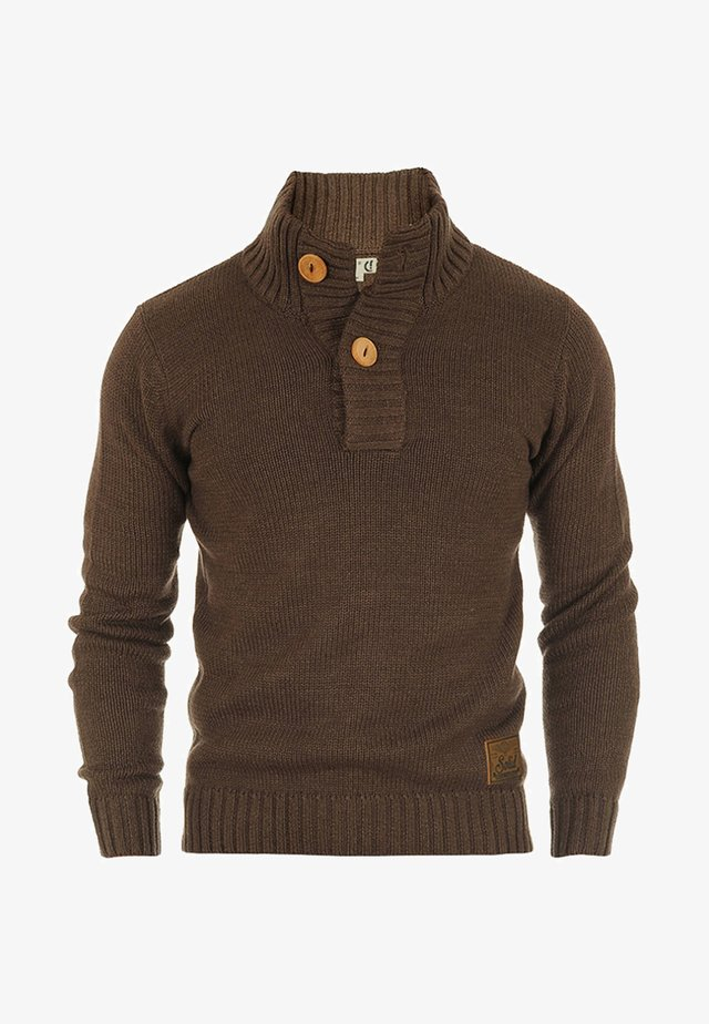 PETER - Pullover - coffee bean melange