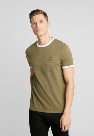 RINGER TEE - T-shirt basic - lichen green/white