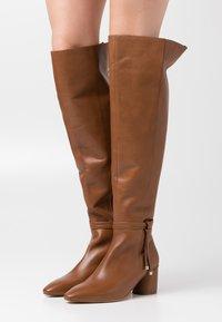 Zign - Kozačky nad kolena - brown - 0