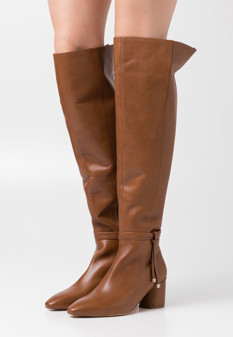 Zign - Kozačky nad kolena - brown