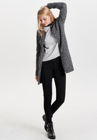 JDY - JDYBESTY ZIP JACKET - Short coat - dark grey melange - 1