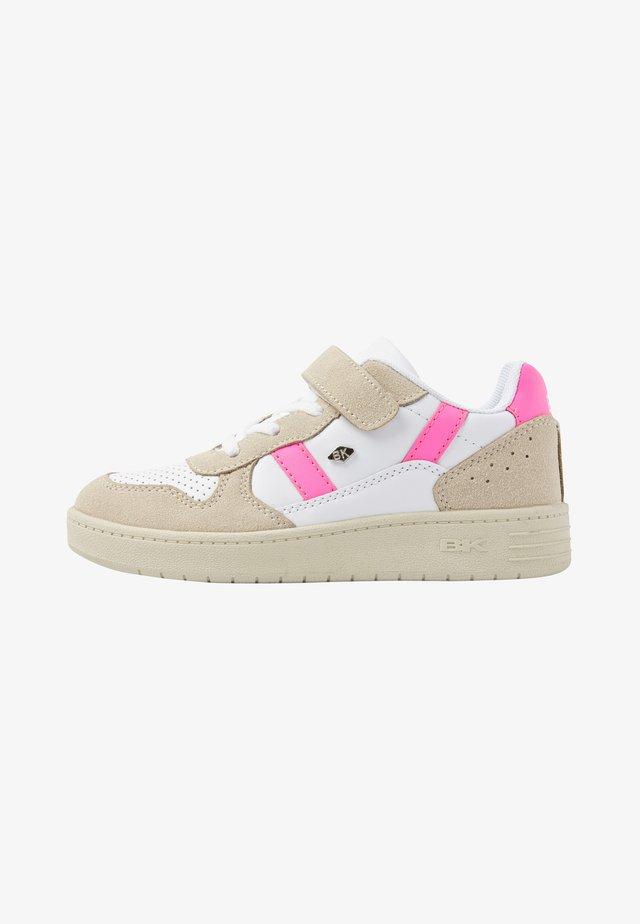 RAWW - Baskets basses - white/beige/neon pink