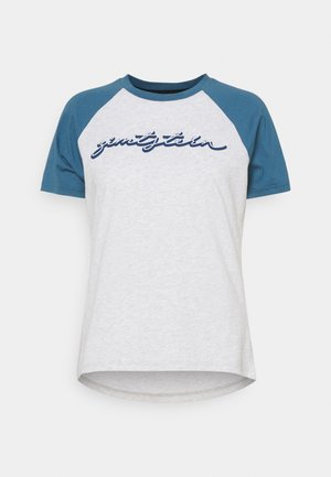 SWEETZ TEE - T-Shirt print - glacier grey melange/blue steel