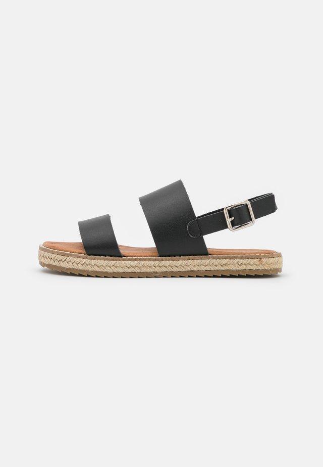 ANIELA - Sandaalit nilkkaremmillä - black