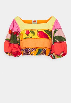 RAINBOW MIXED PRINTS TIERED - Topper - multicoloured