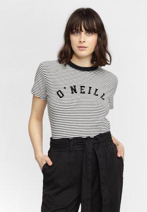 ESSENTIALS STRIPE - Camiseta estampada - white/black