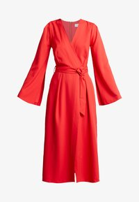 Closet - PLEATED SLEEVE WRAP DRESS WITH FRONT TIE - Day dress - red - 4