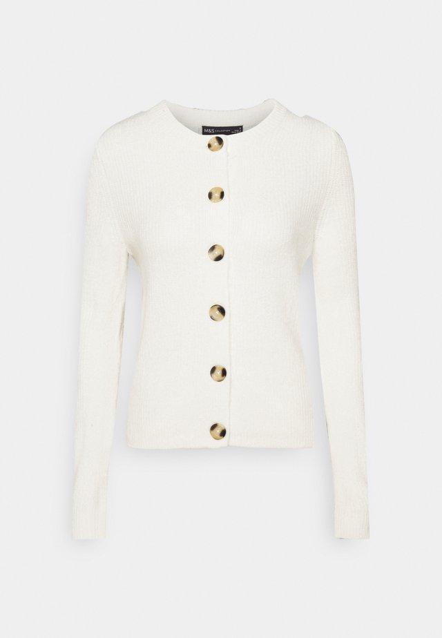 SPONGEY CARDI - Vest - offwhite