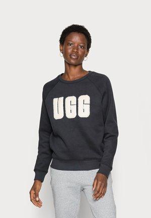 MADELINE FUZZY LOGO CREWNECK - Sweater - black / cream