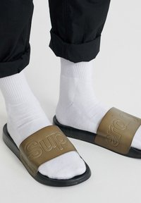 Superdry - BEACH SLIDERS - Slippers - olive - 0