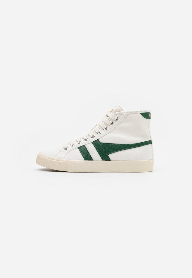 TENNIS MARK COX  - High-top trainers - offwhite/dark green