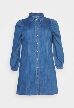 CARONTAN LIFE KNEE DRESS - Denim dress - dark blue denim