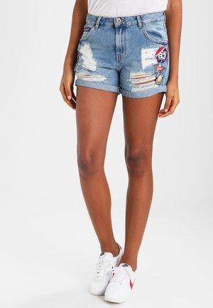 STEPH  - Shorts vaqueros - hawaii badged blue