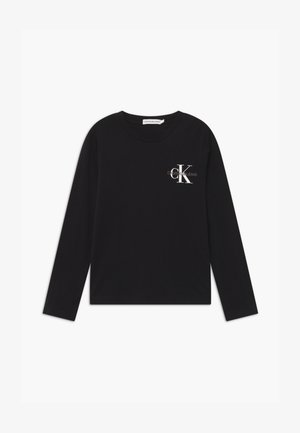 CHEST MONOGRAM UNISEX - Top s dlouhým rukávem - black