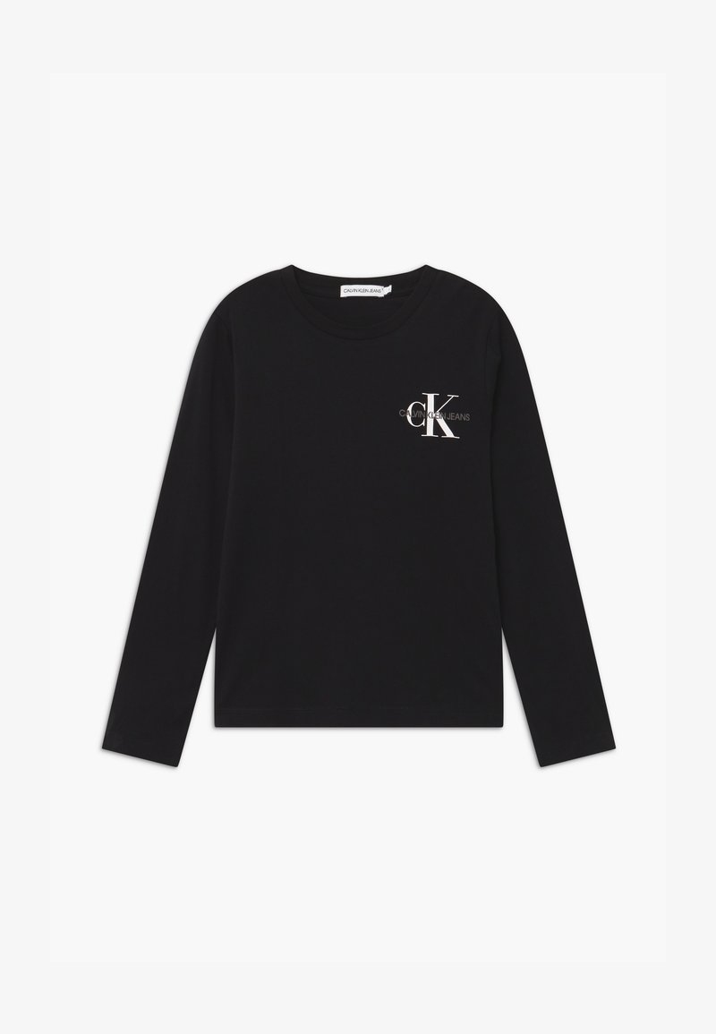 Calvin Klein Jeans - CHEST MONOGRAM UNISEX - Long sleeved top - black