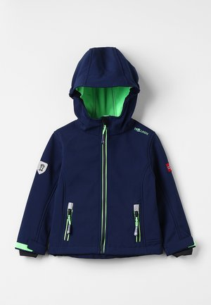 KIDS TROLLFJORD JACKET - Soft shell jacket - navy/light green