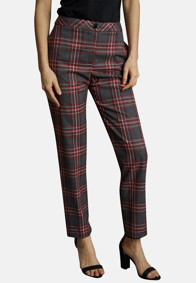 MIT SCHOTTENMUSTER - MIKOLA - Trousers - red
