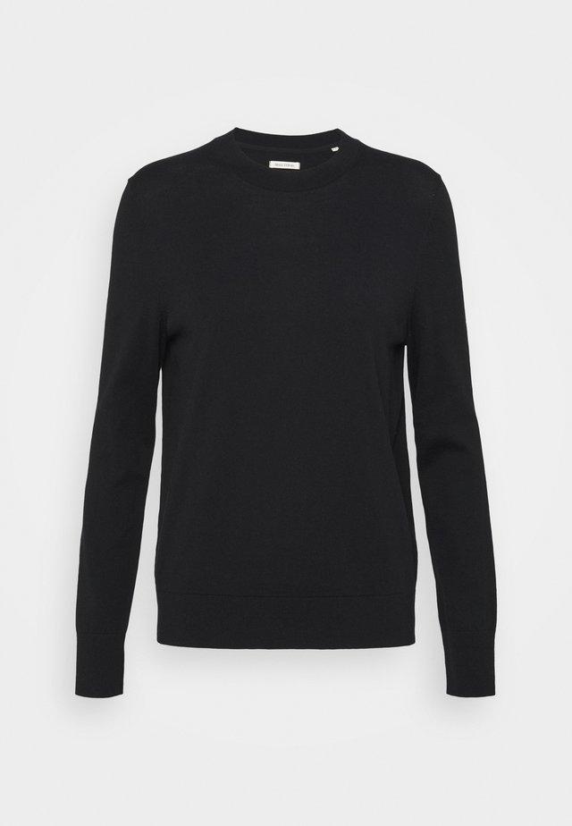 LONGSLEEVE ROUND NECK - Sweter - black