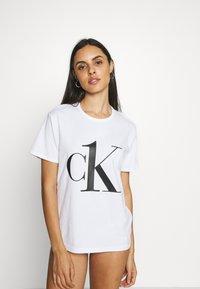 Calvin Klein Underwear - ONE CREW NECK - Pyjama top - white/black - 0
