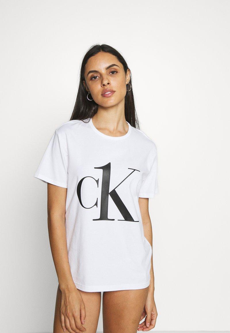 Calvin Klein Underwear - ONE CREW NECK - Pyjama top - white/black