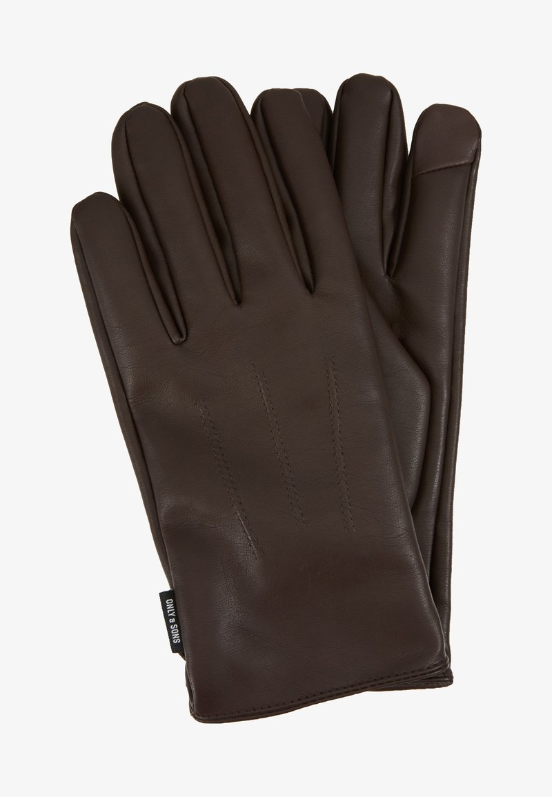 Only & Sons - ONSCLAS GLOVE - Gloves - brown stone