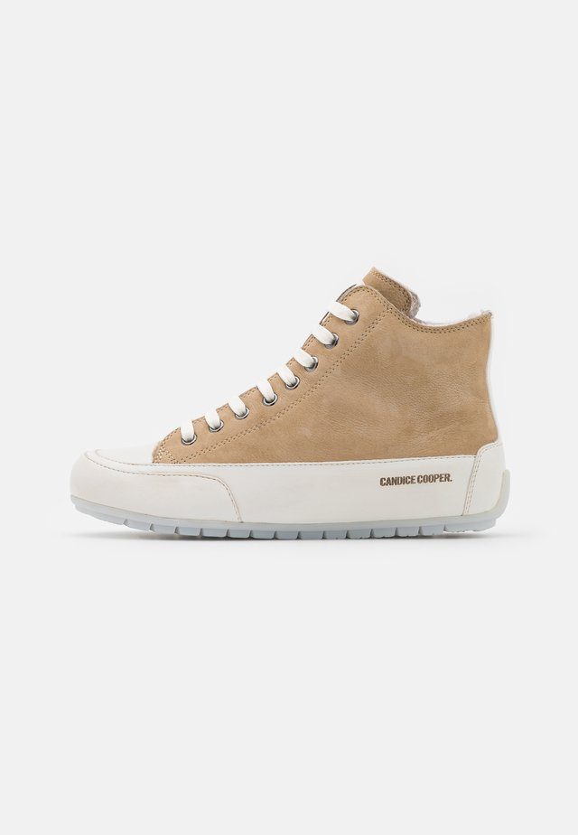 PLUS - High-top trainers - tamponato/panna