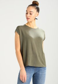 Vero Moda - VMAVA PLAIN - T-shirt basic - kalamata - 0