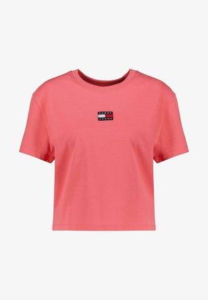 TOMMY CENTER BADGE TEE - Basic T-shirt - pink