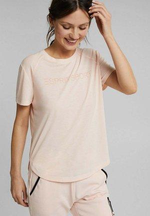 MIT LOGO-PRINT - Print T-shirt - peach