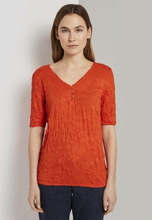 Print T-shirt - strong flame orange