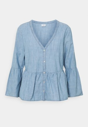 JDYDICTE CHAMBRAY - Blouse - medium blue denim