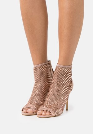 KELLA - High heeled ankle boots - blush