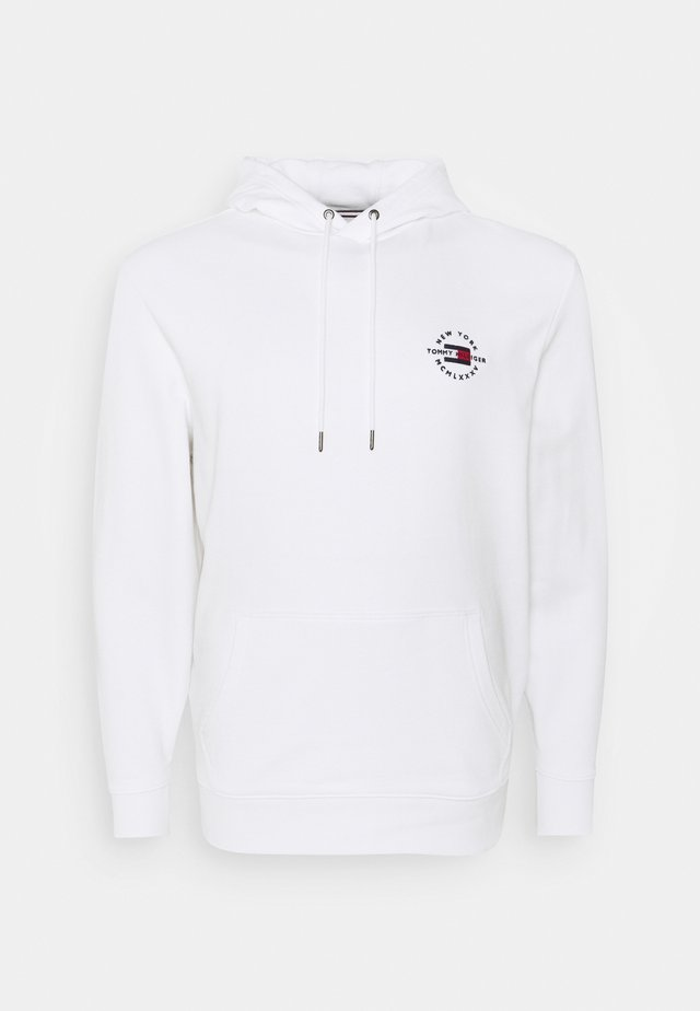 CIRCLE CHEST CORP HOODY - Mikina s kapucí - white