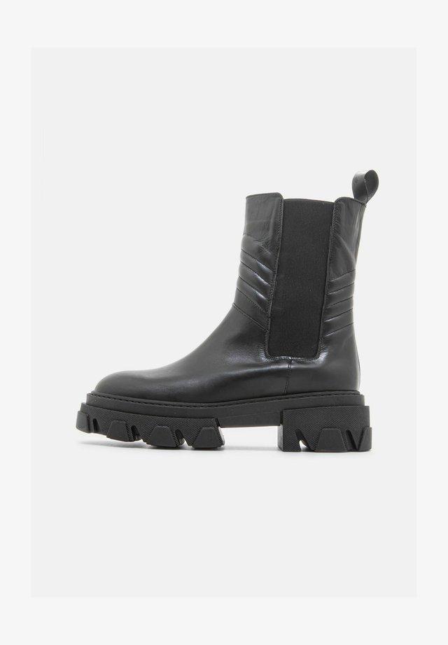 CALZ.DONNA  VITELLO  - Platform ankle boots - nero