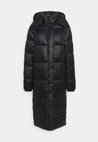 Missguided Tall - MAXI SHINE HOODED PUFFER - Winter coat - black - 0