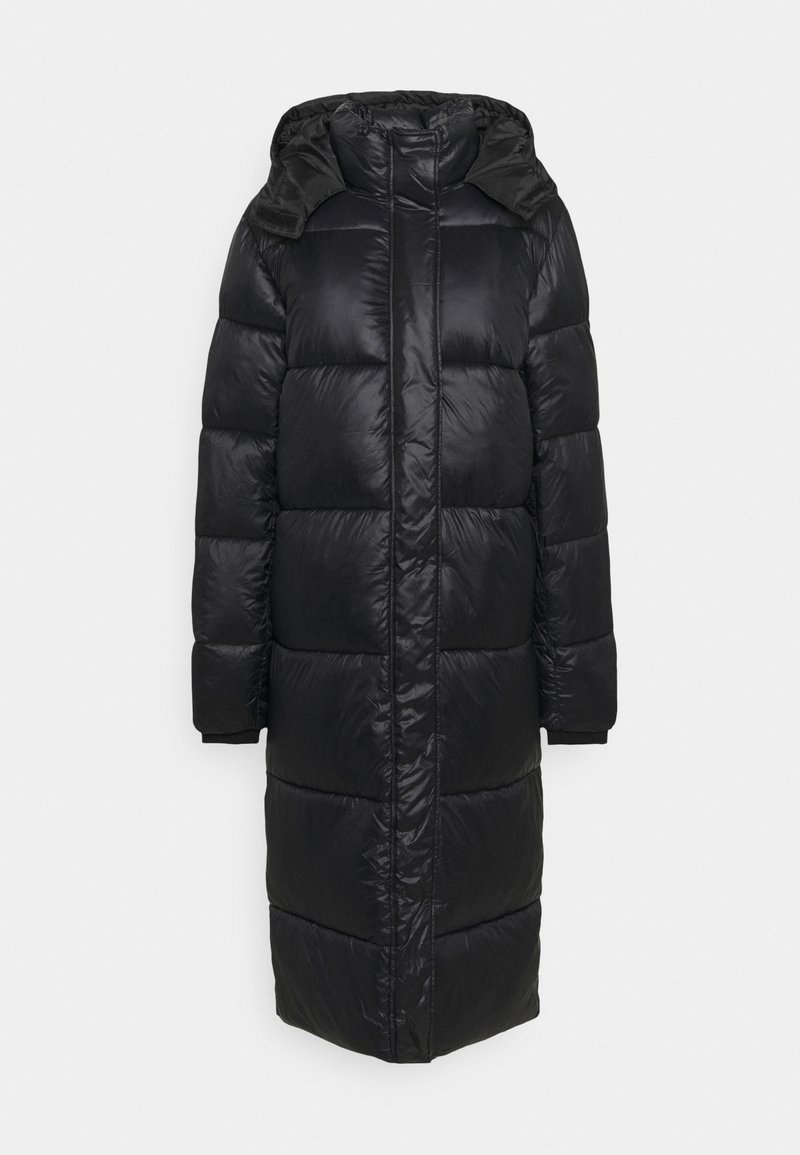 Missguided Tall - MAXI SHINE HOODED PUFFER - Winter coat - black