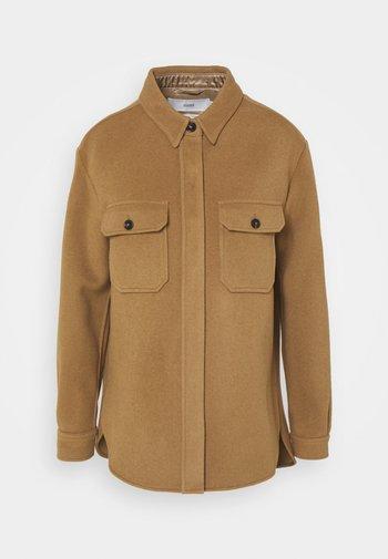 KALLY - Short coat - dark tan