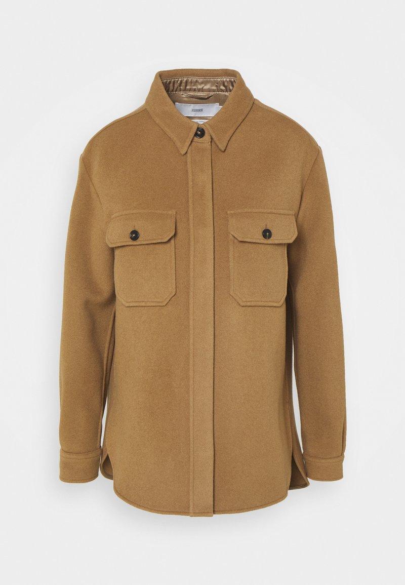 CLOSED - KALLY - Short coat - dark tan