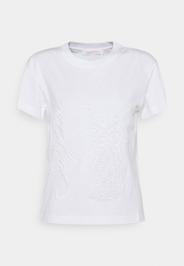 T-shirt - bas - white powder