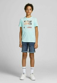 Jack & Jones Junior - Print T-shirt - bleached aqua - 0